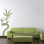 Naklejka welurowa na ścianę Bambus W2