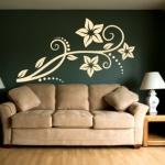 Naklejka welurowa dekoracyjna Motyw florystyczny W11
