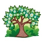 Naklejka ścienna Wiosenne drzewko K10