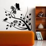 Naklejka welurowa na ścianę Motyw kwiatowy W18