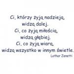 Naklejka dekoracyjna cytat Lothar Zenetti M8