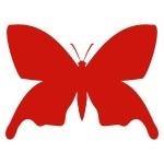 Naklejka welurowa dekoracyjna Motylek W7