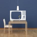 Naklejka ścienna Stary telewizor M12