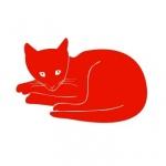 Naklejka welurowa na ścianę Kot W16