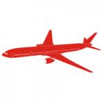 Welurowa naklejka Samolot W1
