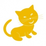Szablon do pomalowania Kotek S5