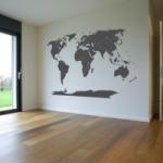 Naklejka welurowa na ścianę Mapa świata z Antarktydą W6