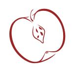 Naklejka na płytkę Jabłko K8