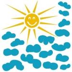 Naklejki ścienne Chmurki i słońce M16