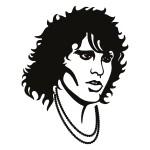 Naklejka welurowa ścienna Jim Morrison W23