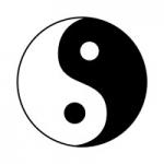 Naklejka welurowa na ścianę Symbol Yin Yang W8