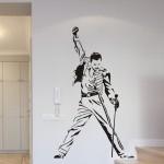 Welurowa naklejka na ścianę Freddie Mercury W21