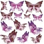 Naklejki na ścianę Zestaw motyli K16