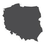 Naklejka ścienna Mapa Polski M9