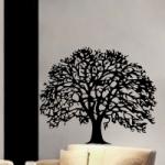 Naklejka welurowa na ścianę Drzewo dębu W10