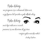 Szablon ścienny cytat Audrey Hepburn S21