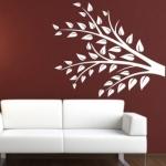 Naklejka welurowa dekoracyjna Gałązka W15