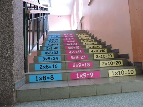 Naklejka do szkoły tabliczka mnożenia razy 9